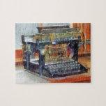 Steampunk - máquina de escribir del vintage puzzle