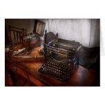 Steampunk - máquina de escribir - el mensajero sec tarjetas