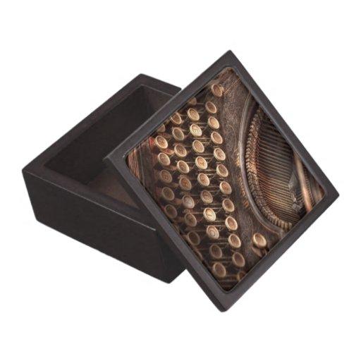 Steampunk - máquina de escribir - tuckered también cajas de recuerdo de calidad