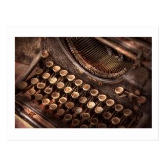 Steampunk - máquina de escribir - tuckered también tarjeta postal
