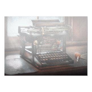 """Steampunk - máquina de escribir - una máquina de invitación 5"""" x 7"""""""