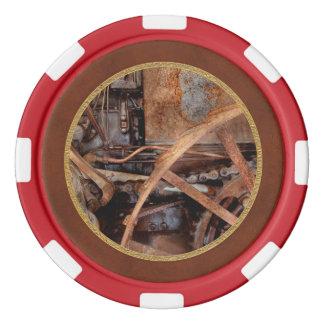 Steampunk - máquina - la edad industrial juego de fichas de póquer