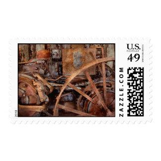 Steampunk - máquina - la edad industrial sello