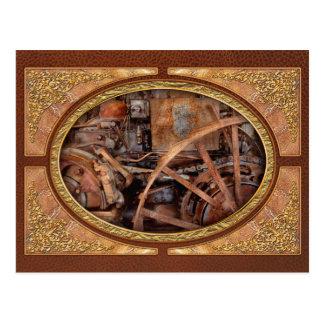 Steampunk - máquina - la edad industrial tarjetas postales