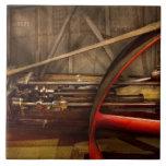 Steampunk - máquina - los trabajos de la rueda teja cerámica