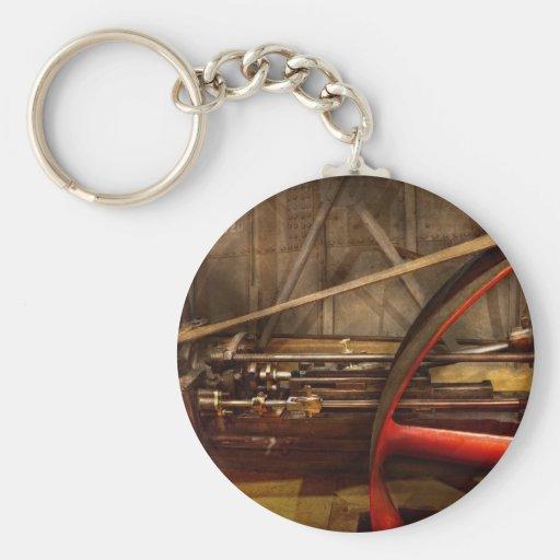 Steampunk - máquina - los trabajos de la rueda llavero