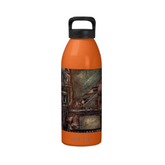 Steampunk - máquina - todas las campanas y silbido botella de beber