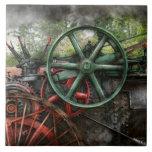 Steampunk - máquina - transporte del futuro teja cerámica