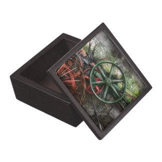 Steampunk - máquina - transporte del futuro cajas de regalo de calidad