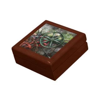 Steampunk - máquina - transporte del futuro caja de regalo