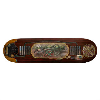 Steampunk - máquina - transporte del futuro skate board