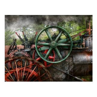 Steampunk - máquina - transporte del futuro postales