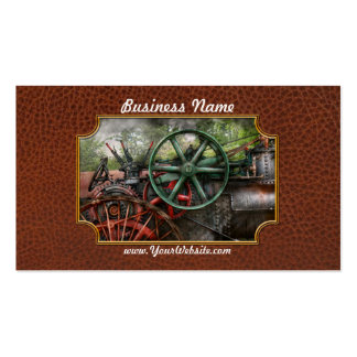 Steampunk - máquina - transporte del futuro tarjeta de visita