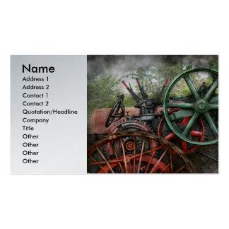 Steampunk - máquina - transporte del futuro plantillas de tarjetas de visita