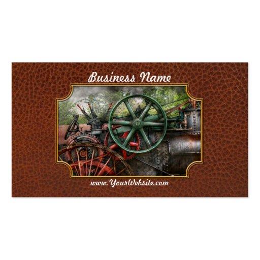 Steampunk - máquina - transporte del futuro tarjetas de visita