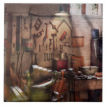 Steampunk - maquinista - el taller de los inventor azulejo
