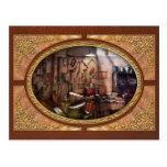 Steampunk - maquinista - el taller de los inventor tarjetas postales