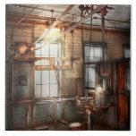 Steampunk - maquinista - la estación de pulido azulejos cerámicos