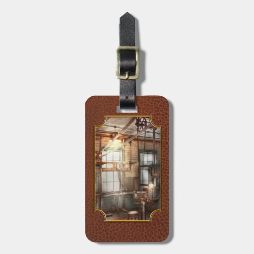 Steampunk - maquinista - la estación de pulido etiquetas para equipaje