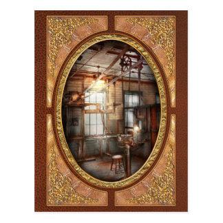 Steampunk - maquinista - la estación de pulido postales
