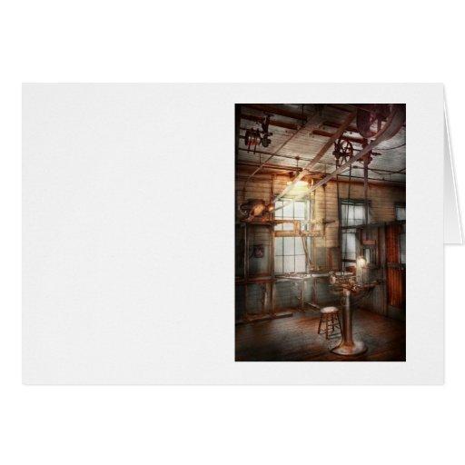 Steampunk - maquinista - la estación de pulido tarjeta