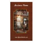 Steampunk - maquinista - la estación de pulido tarjetas de negocios