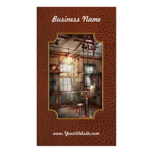 Steampunk - maquinista - la estación de pulido tarjetas de visita
