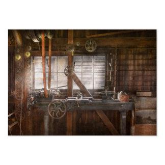 Steampunk - maquinista - mi taller que se ocupa invitación 12,7 x 17,8 cm