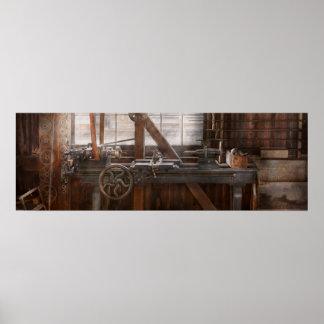 Steampunk - maquinista - mi taller que se ocupa va póster