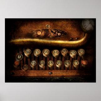 Steampunk - mecanismo de la remuneración póster