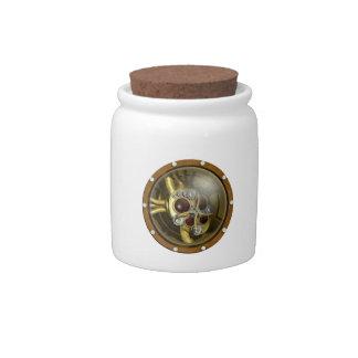 Steampunk Mechanical Heart Candy Jars