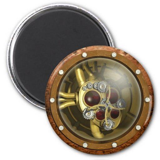 Steampunk Mechanical Heart Fridge Magnet