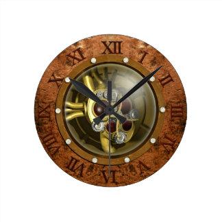 Steampunk Mechanical Heart Round Clock
