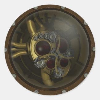 Steampunk Mechanical Heart Sticker