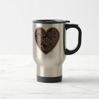 Steampunk Mechanical Heart Travel Mug