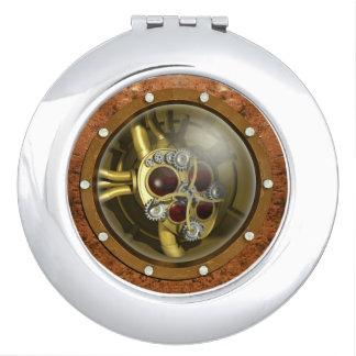 Steampunk Mechanical Heart Vanity Mirror