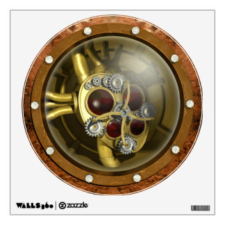 Steampunk Mechanical Heart Wall Stickers