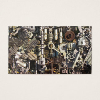 Steampunk mechanical machinery machines business card