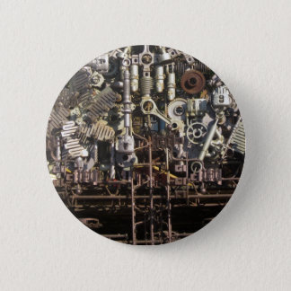 Steampunk mechanical machinery machines button