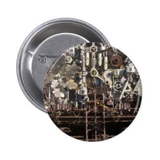 Steampunk mechanical machinery machines button