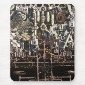 Steampunk mechanical machinery machines mouse pad