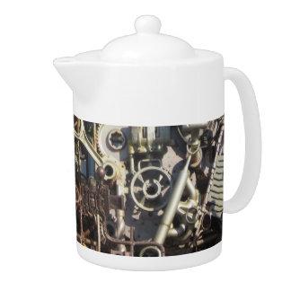 Steampunk mechanical machinery machines teapot