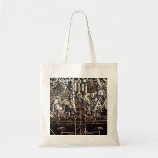 Steampunk mechanical machinery machines tote bag