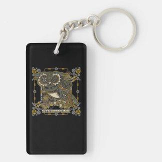 Steampunk Mechanical Owl Keychain