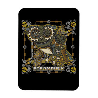 Steampunk Mechanical Owl Magnet