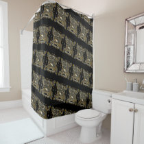 Steampunk Mechanical Owl Shower Curtain