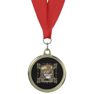 Steampunk Mechanical Skull Medal
