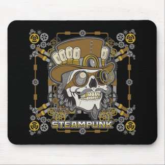 Steampunk Mechanical Skull Mouse Pad