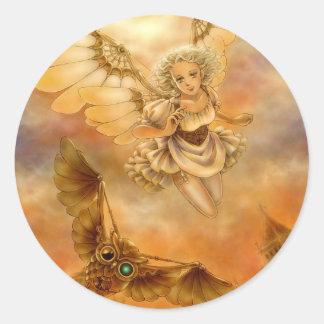 Steampunk Mechanical Wings Fantasy Art Sticker