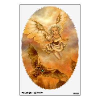 Steampunk Mechanical Wings Fantasy Art Wall Decal